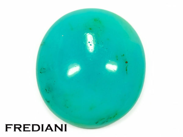 Opale bleue ovale cabochon naturelle
