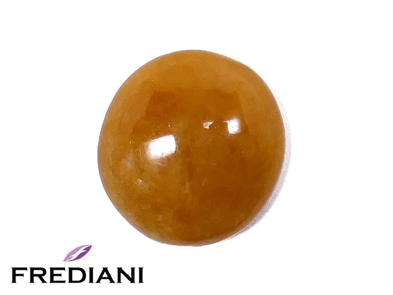 Jade orange cabochon ovale naturel