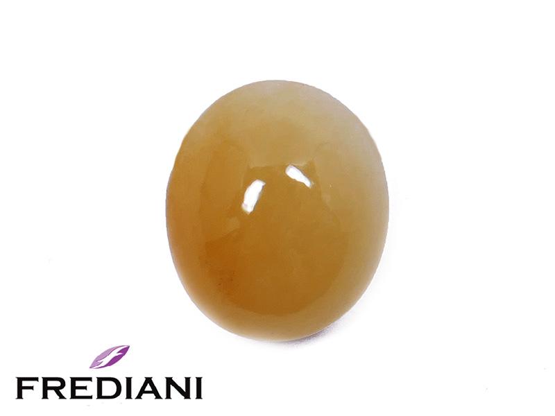 Jade orange cabochon naturel