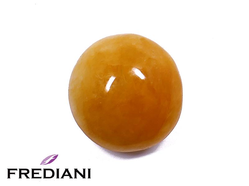 Jade orange cabochon rond naturel
