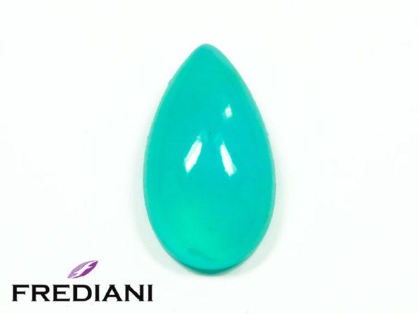 Opale bleue poire cabochon naturelle