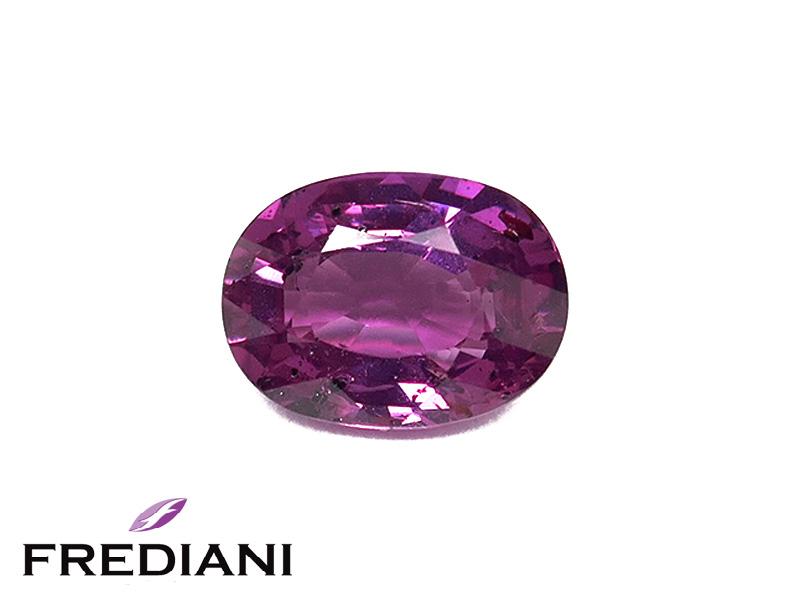 Saphir violet ovale