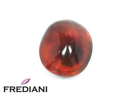 Opale de feu ambrée ovale cabochon naturelle