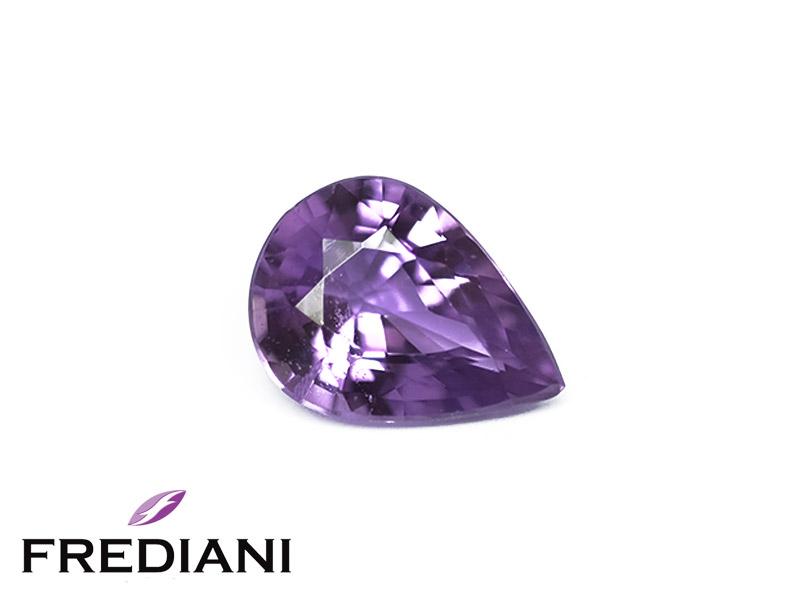 Saphir violet poire naturel