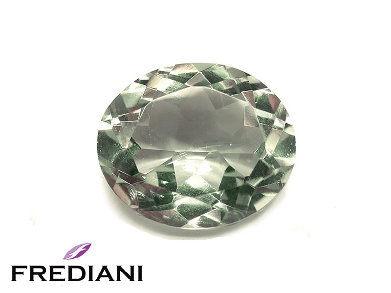 Quartz vert ovale