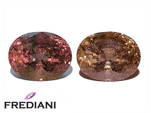 Saphir color change ovale certifié