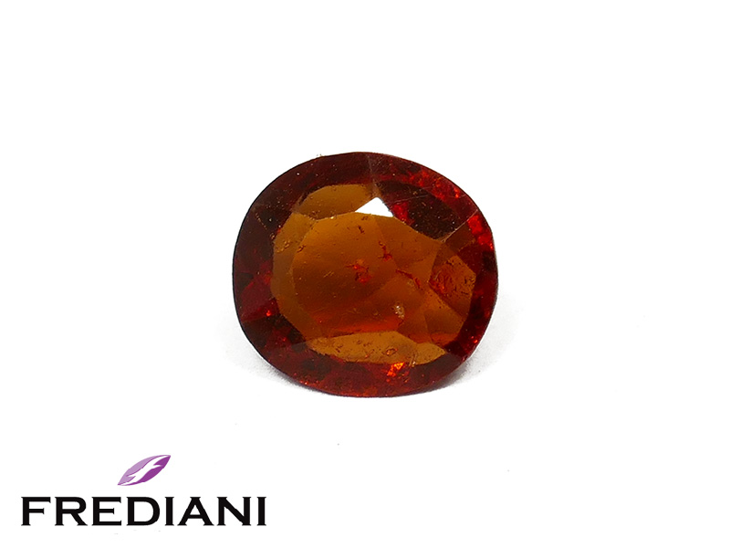 Grenat hessonite ovale naturel