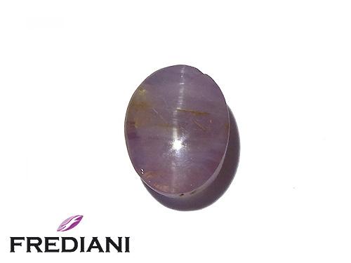 Saphir violet oeil de chat naturel
