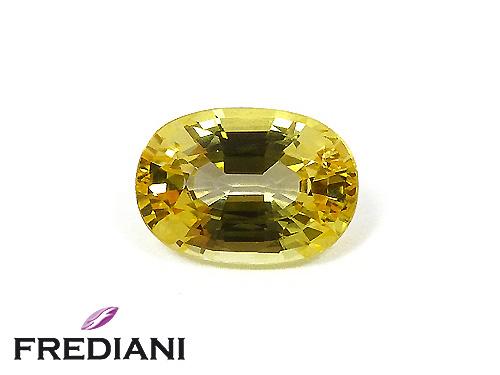 Saphir jaune ovale certifié