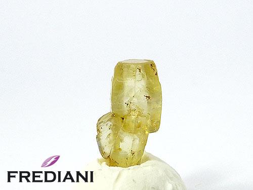Cristal de saphir jaune naturel
