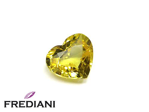 Saphir jaune coeur naturel certifié