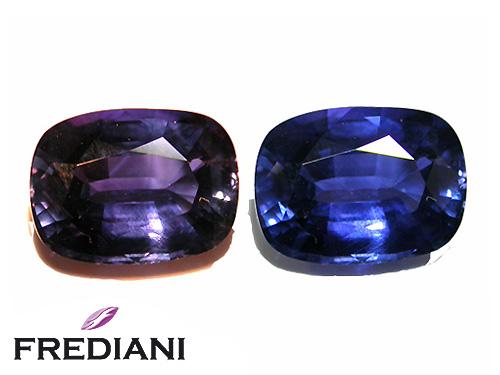 Saphir color change naturel certifié