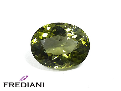 Tourmaline verte ovale naturelle