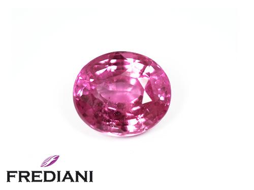 Saphir rose ovale certifié
