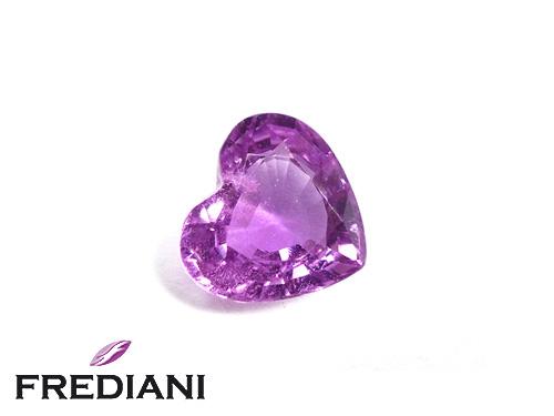 Saphir violet coeur naturel certifié