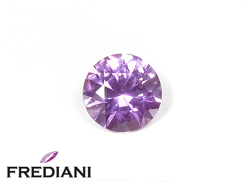 Saphir rond violet naturel