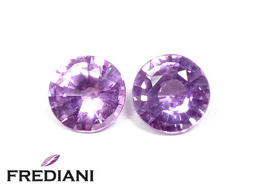 Appairage de saphirs violets naturels
