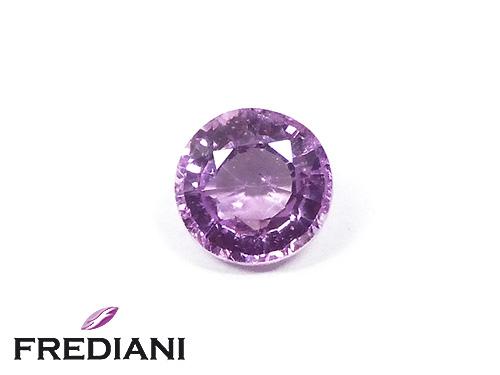 Saphir violet rond naturel