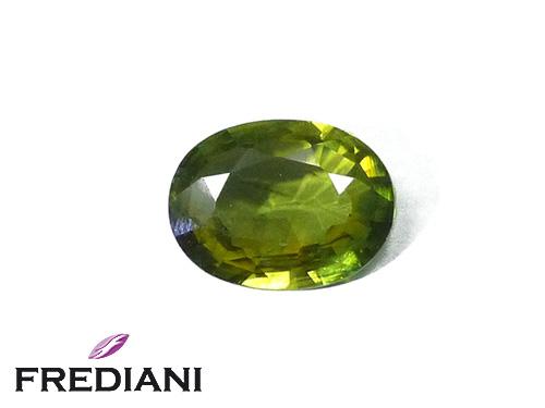 Saphir vert ovale