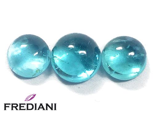 Apatites bleues rondes cabochons