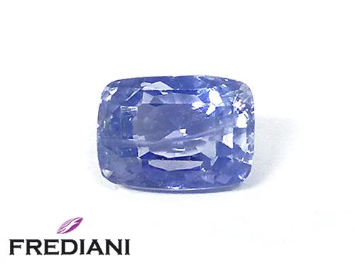 Saphir bleu coussin