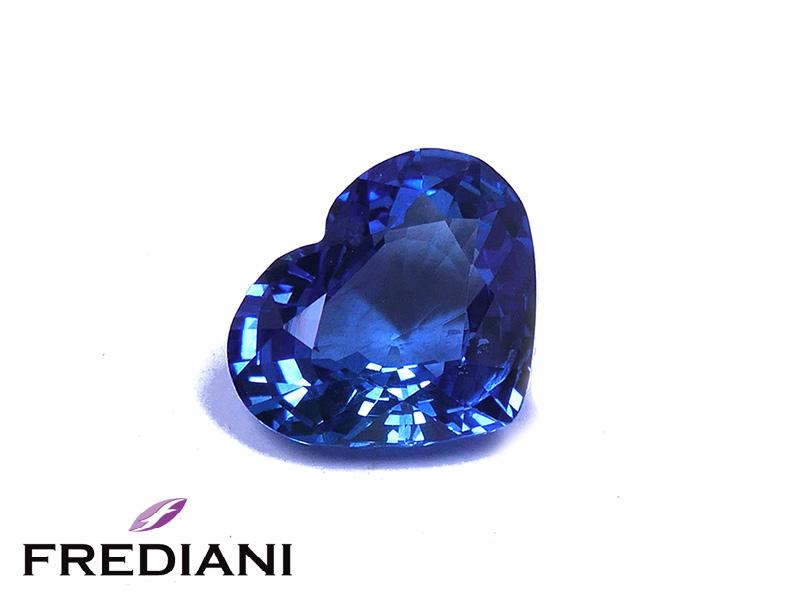 Saphir bleu coeur