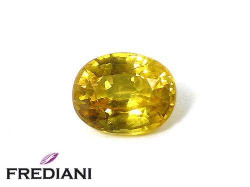 Saphir jaune ovale
