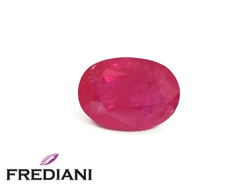 Rubis ovale naturel certifié