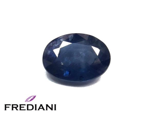 Saphir bleu ovale
