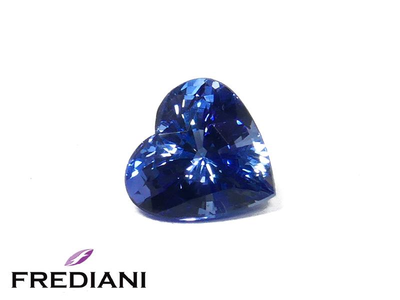 Saphir bleu coeur certifié