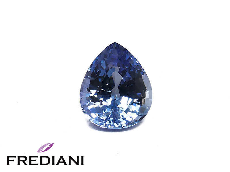 Saphir bleu poire certifié