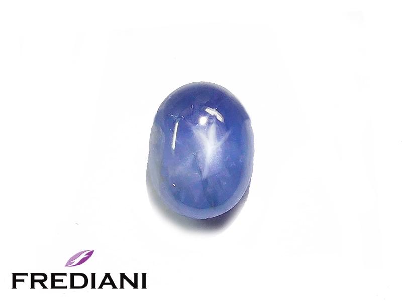 Saphir bleu étoilé naturel