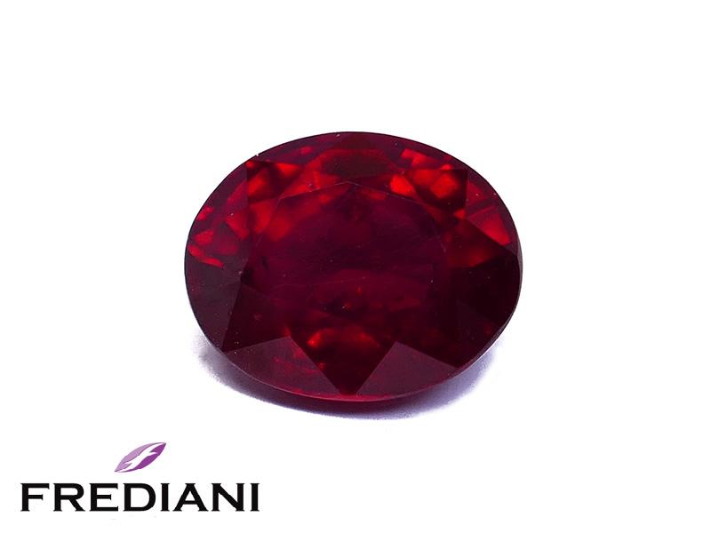 Rubis ovale traité