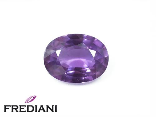 Saphir violet ovale naturel