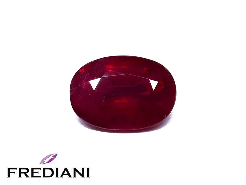 Rubis ovale certifié