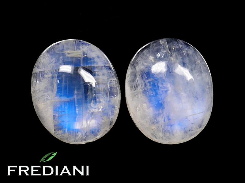Appairage de pierres de lune ovales naturelles