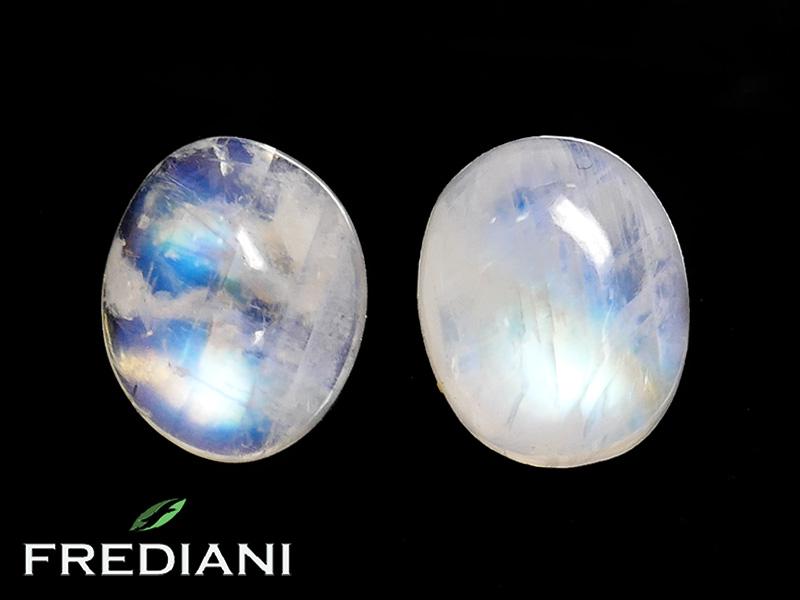 Appairage de pierres de lune ovale naturelle