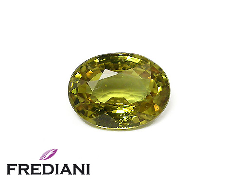 Saphir jaune ovale naturel