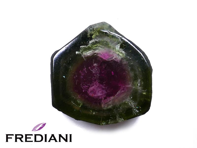 Cristal de tourmaline bicolore naturel