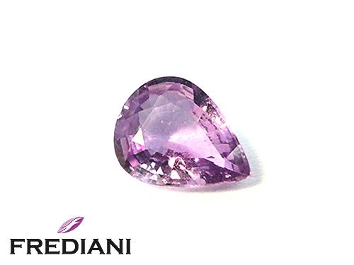 Saphir poire violet naturel