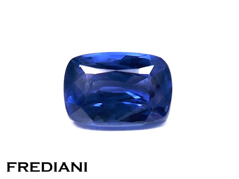 Saphir bleu coussin naturel certifié