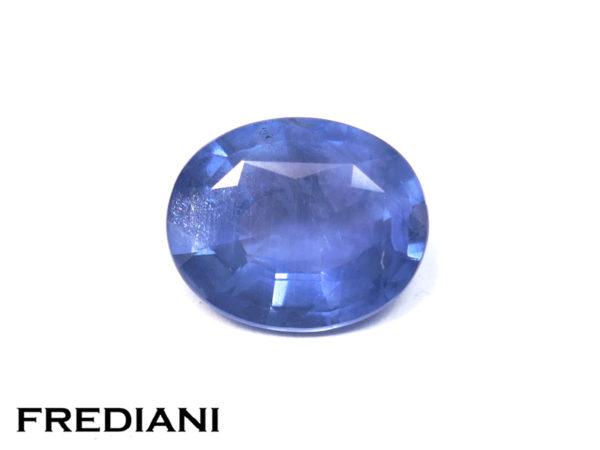 saphir bleu naturel certifié