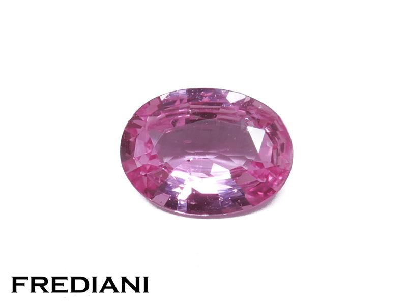 Saphir rose ovale