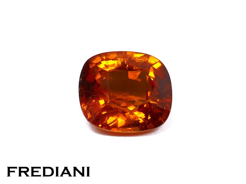 Saphir orange coussin