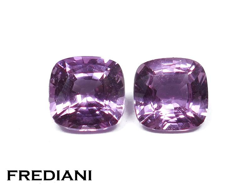 Saphirs violets coussin