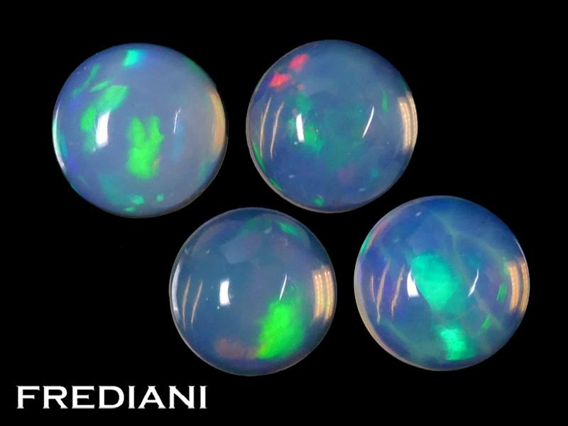 Lot d'opales rondes naturelles