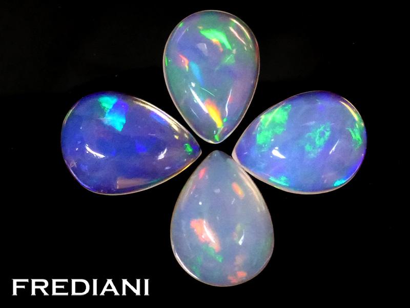 Lot d'opales poires naturelles