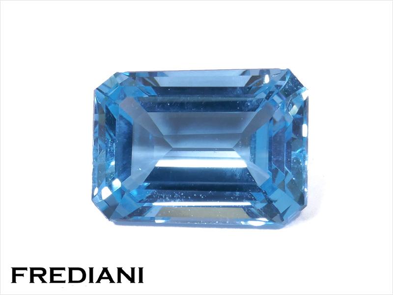 Topaze bleue rectangulaire