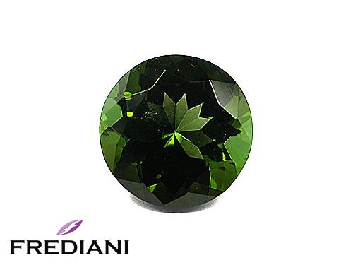 Tourmaline verte ronde naturelle