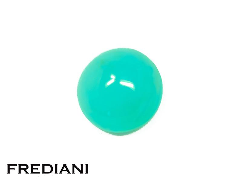 Opale bleue ronde cabochon naturelle